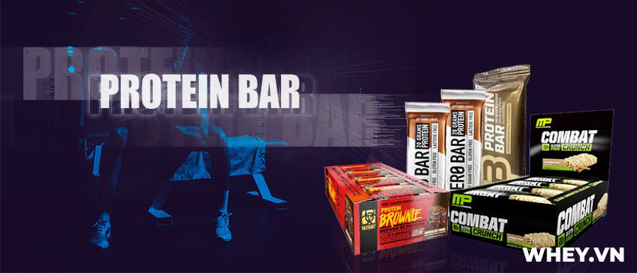 Protein Bar là sản phẩm thanh bánh protein nướng ăn liền, cung cấp đầy đủ dinh dưỡng. Protein Bar giá rẻ chính hãng tại Hà Nội TpHCM