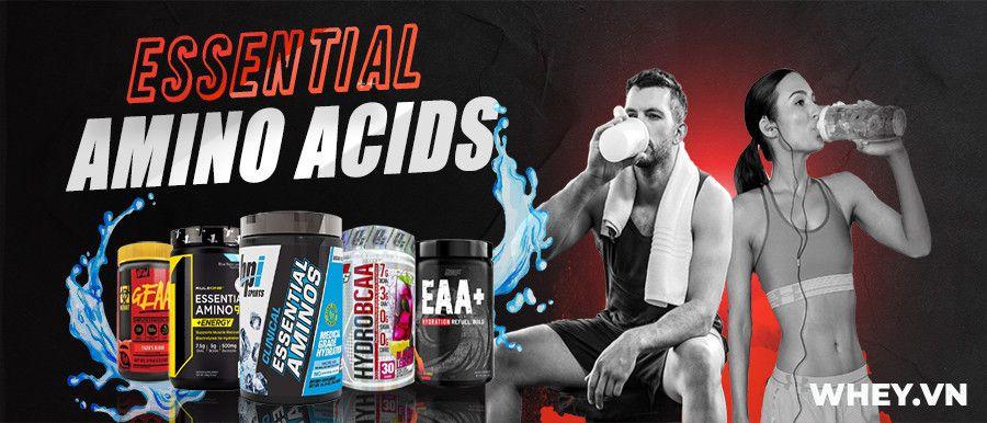 Essential Amino Acids EAA bổ sung 9 amino axit thiết yếu phục hồi phát triển cơ bắp toàn diện. Sản phẩm Essential Amino Acids EAA giá rẻ tại Hà Nội TpHCM